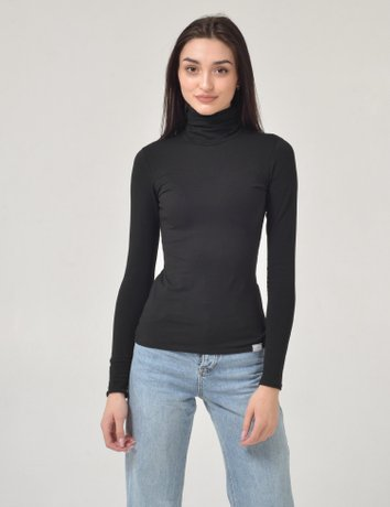 Turtleneck, Черный, M