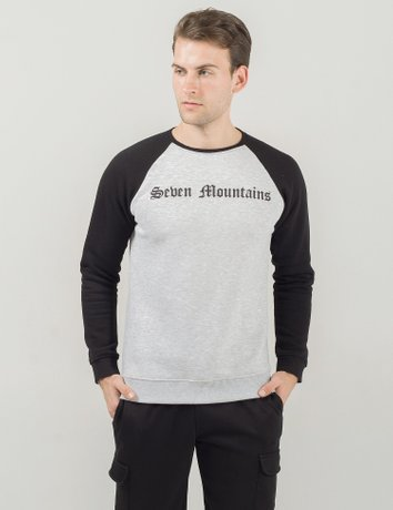Sweatshirt Gothic / Grey melange-Black, Серый меланж-Черный, XXL
