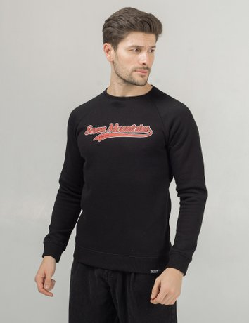 Sweatshirt Baseball, Черный, S