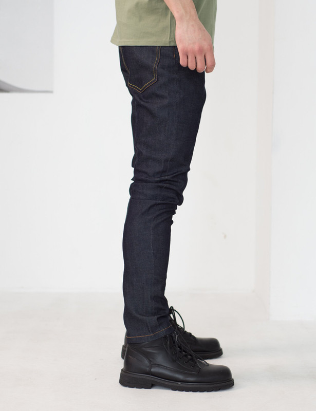 Straight Cut Jeans / indigo, Индиго, S