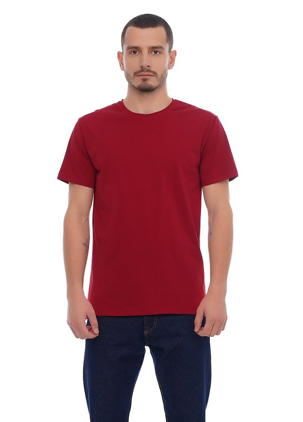 Basic T-Shirt EL, Burgundy, S