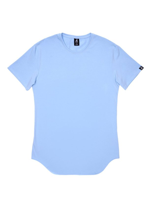 Elongated T-shirt, Sky blue, S