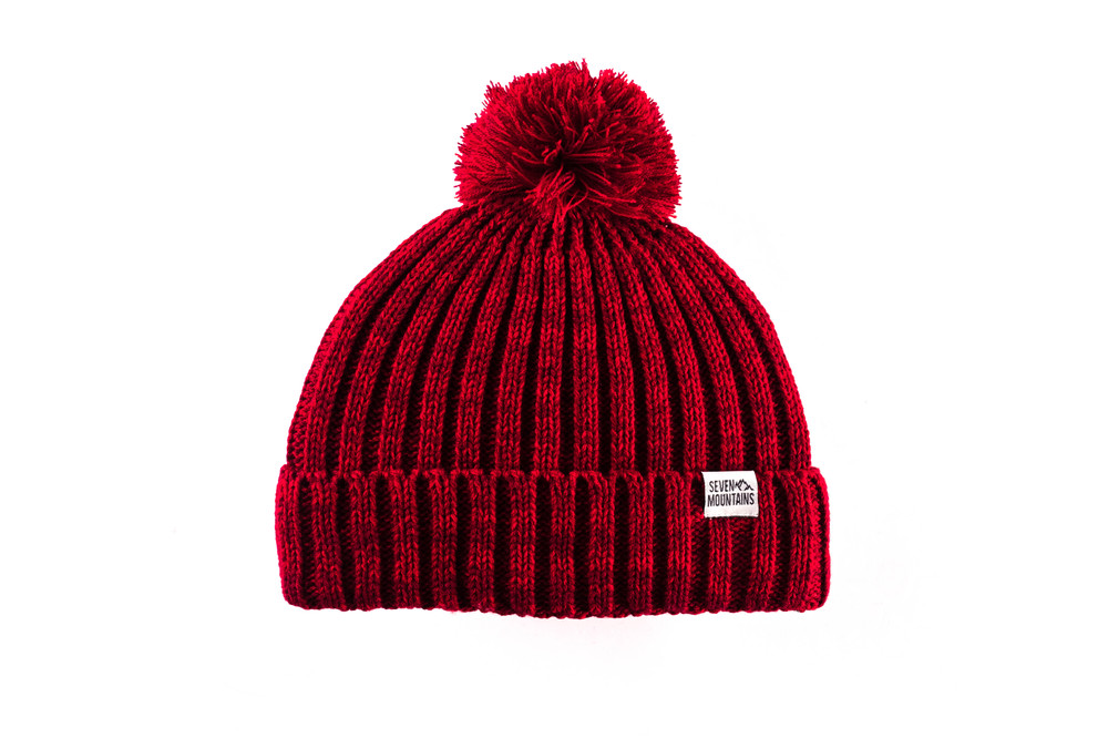 Pom Hat , Red, one size