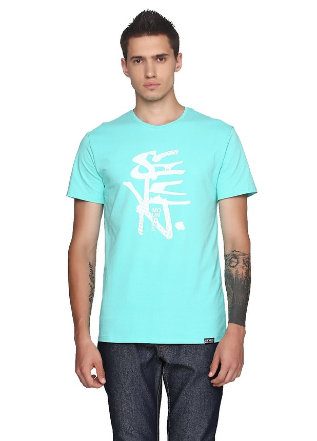 Halftoned Dote White T-Shirt Mint