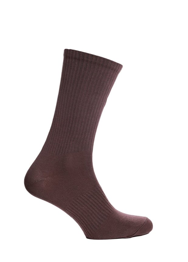 Ribbed socks, Brown, 40-42
