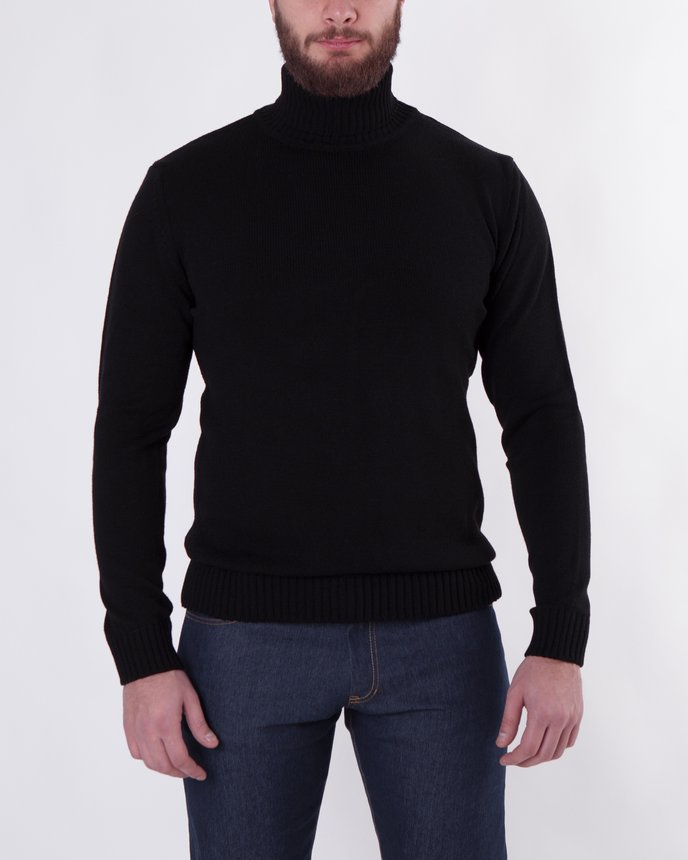 Roll Neck Knit / Black