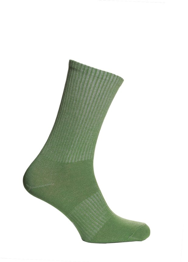 Ribbed socks, Green, 40-42