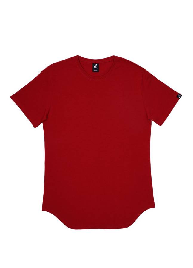 Elongated T-shirt, Burgundy, S