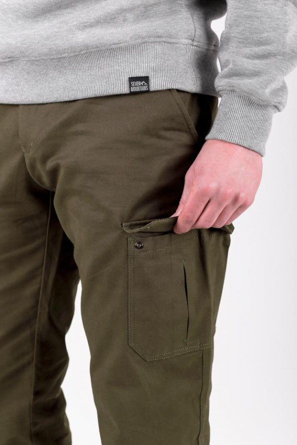 Cotton Cargo Pants / brown, Brown, S