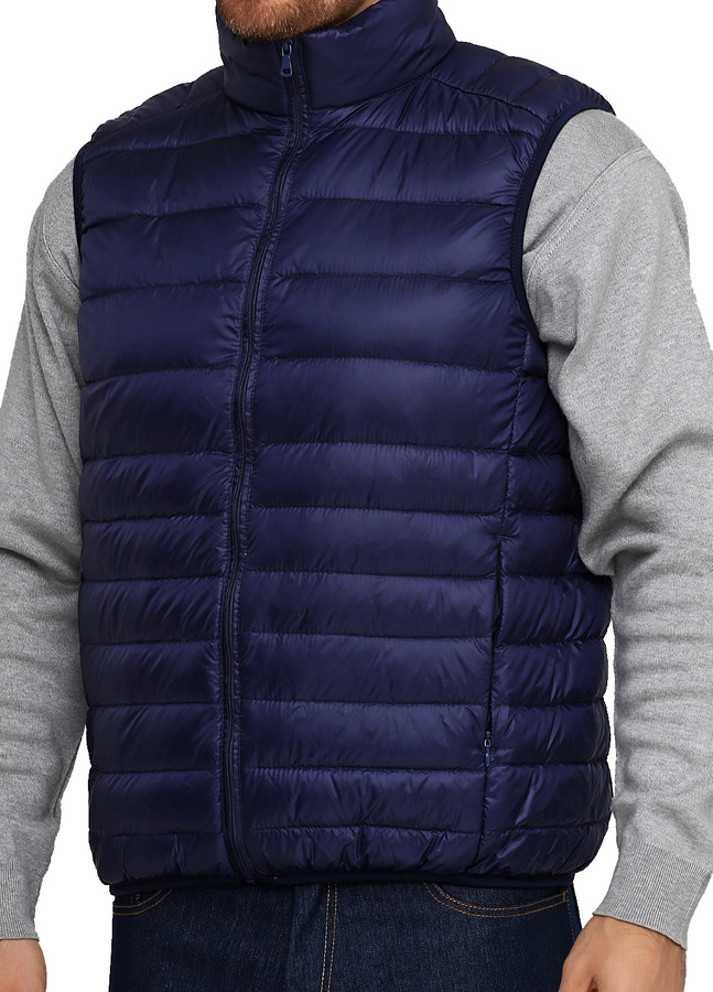 Light Down Vest / Navy, Navy, M