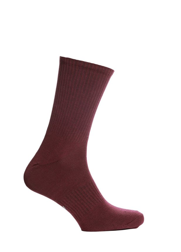 Ribbed socks, Burgundy, 40-42