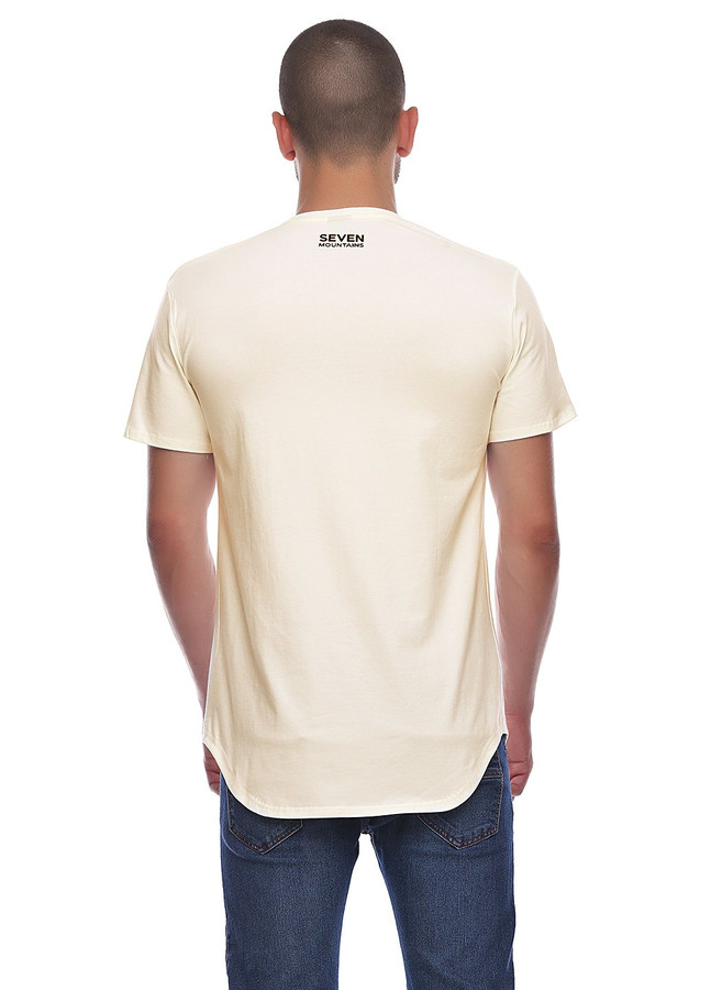 Elongated T-shirt, White milk, S