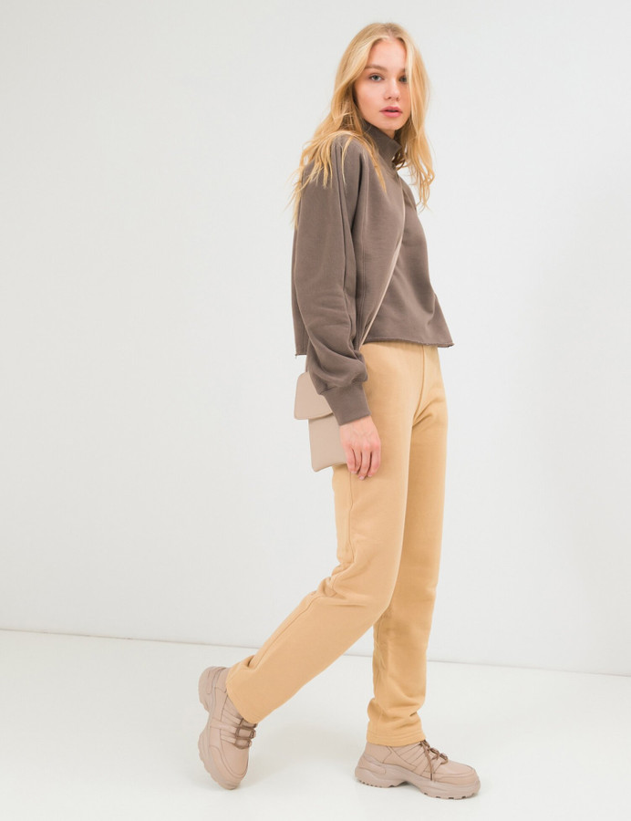 High neck cropped sweatshirt, Makara, XS/S