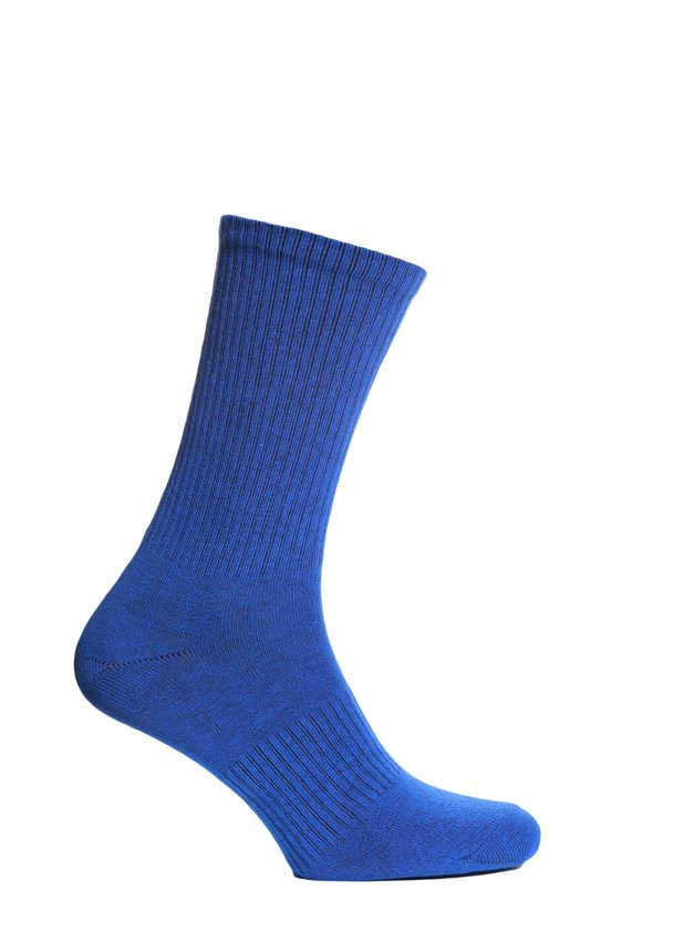 Ribbed socks, Electric blue, 40-42