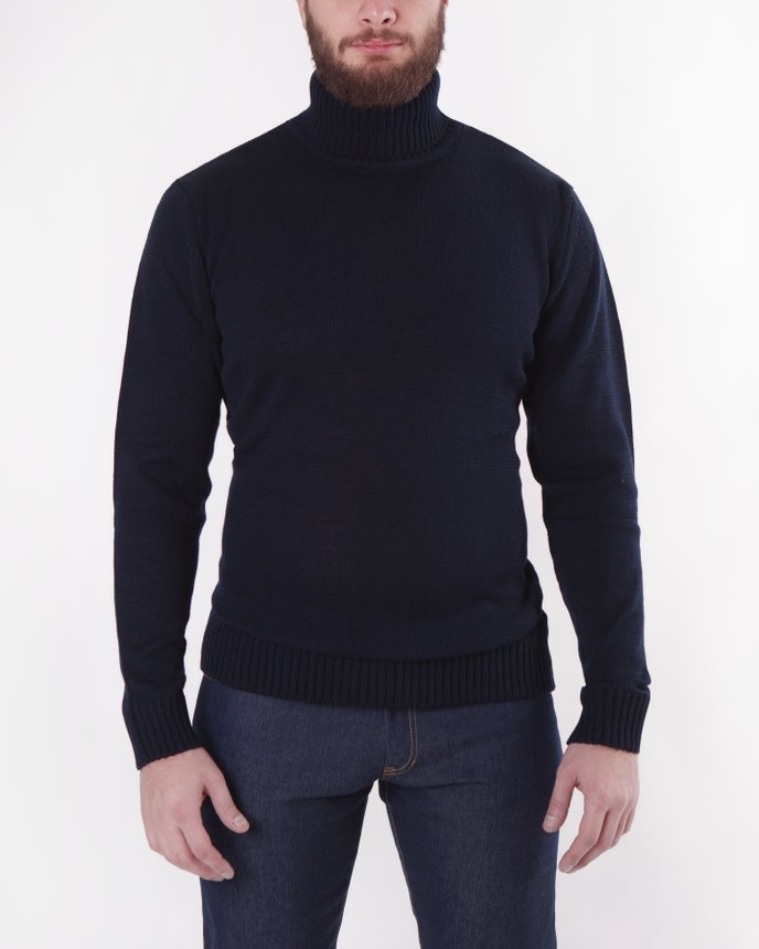 Roll Neck Knit / Navy