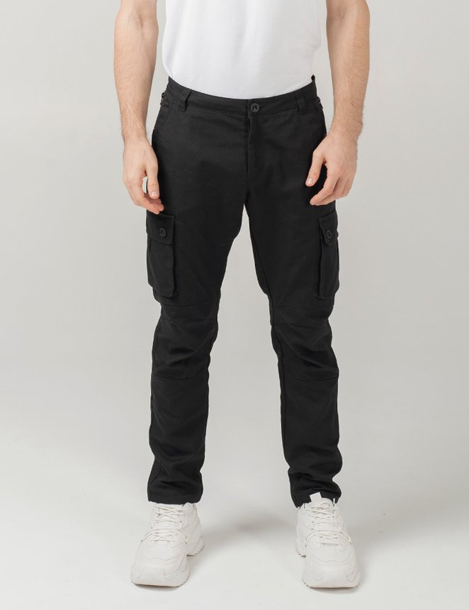 Cargo pants canvas, Black, S