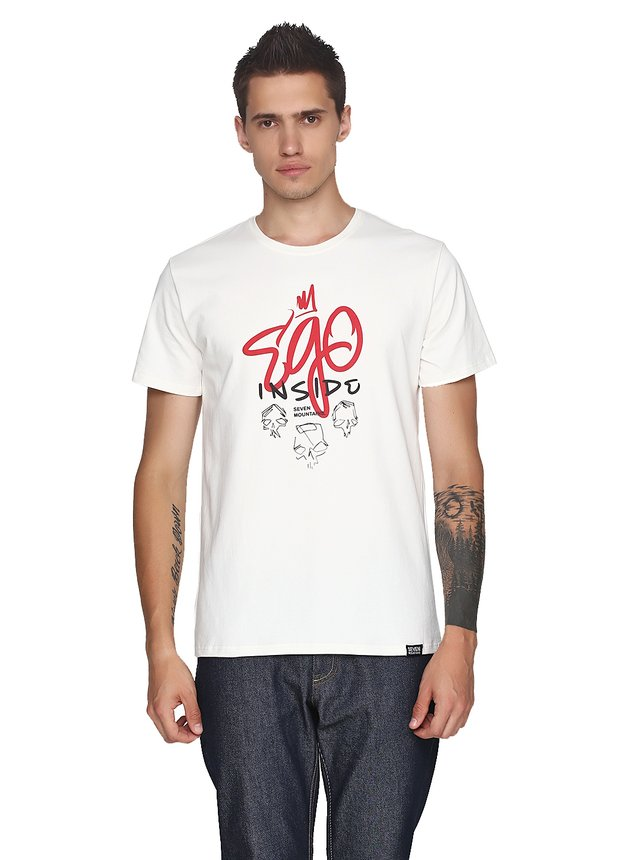 Ego Inside Red T-Shirt Milk