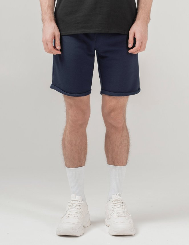 Knit shorts, Navy, S/M