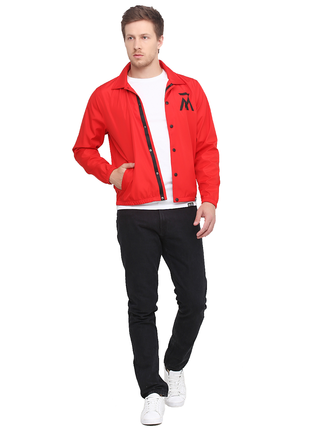 Coach Jacket Logo, Red, S