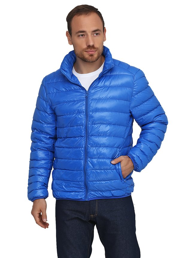 Light Down Jacket, Blue, S
