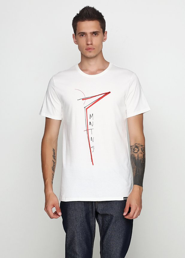 Seven Slim Red T-Shirt Milk