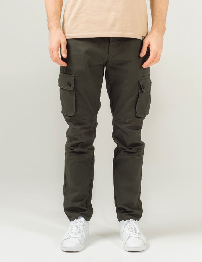 Cargo pants canvas, Khaki, S