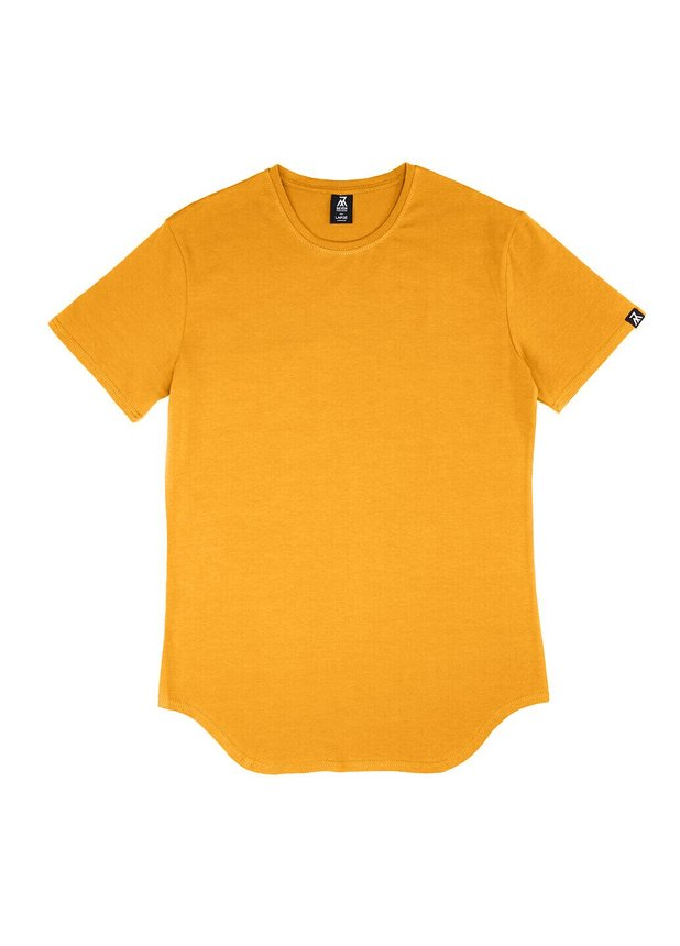 Elongated T-shirt, Mustard, S