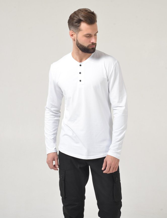 Button Long sleeve , Белый, S