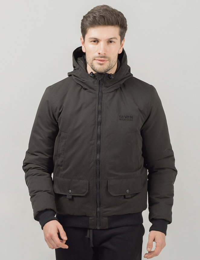 Hooded Bomber, Black, S