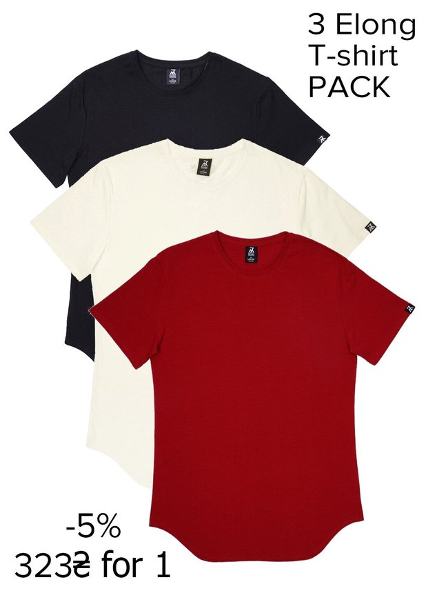 Elongated T-shirt Pack 3