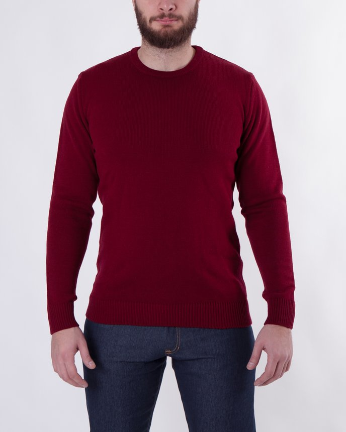 Crew Neck Knit / Burgundy
