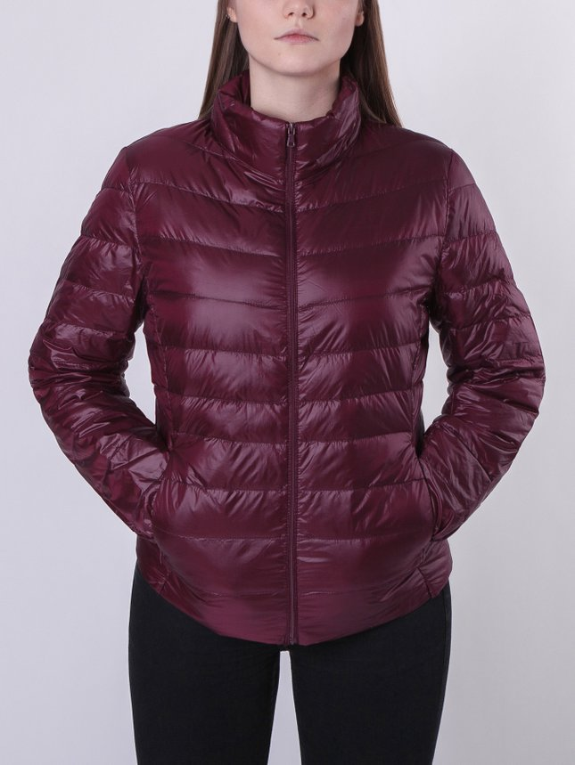 Light Down Jacket Women/Blue, Burgundy, S