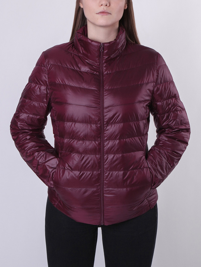Light Down Jacket Women, Burgundy, S
