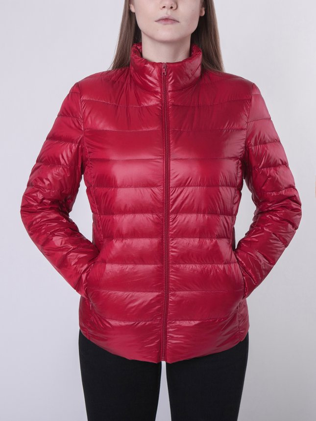Light Down Jacket Women/Blue, Cherry, M