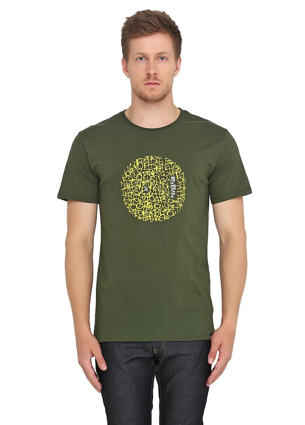 Pattern Circle Lime T-Shirt / Khaki