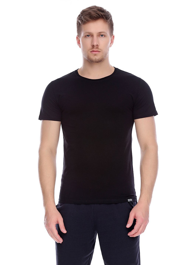 Basic T-Shirt , Black, S