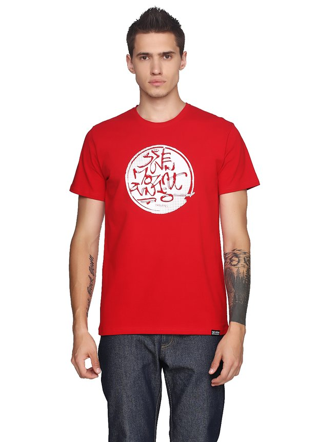 Orientall White T-Shirt Red