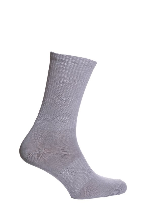 Ribbed socks, grey, 40-42