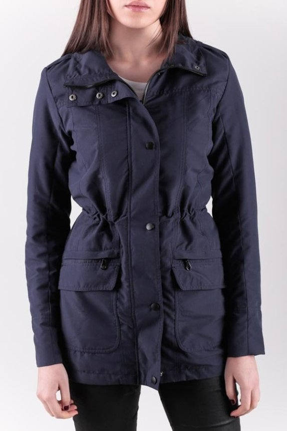 Slim Fit Parka Woman / Navy