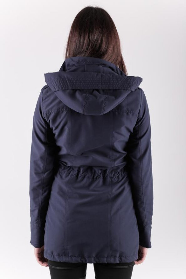 Slim Fit Parka Woman, Navy, S