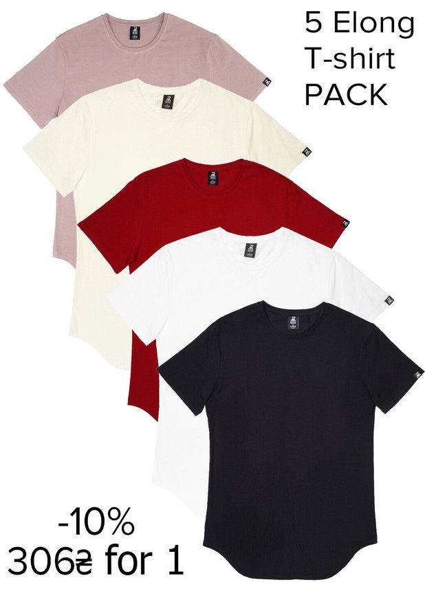 Elongated T-shirt Pack 5