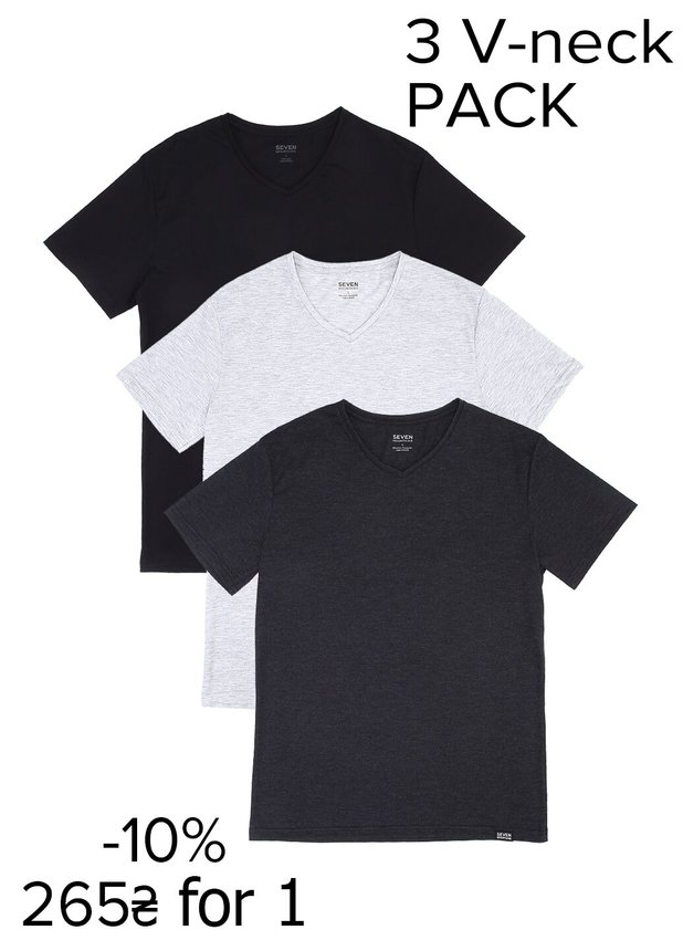 Pack V-neck T-Shirt (3шт-10%)