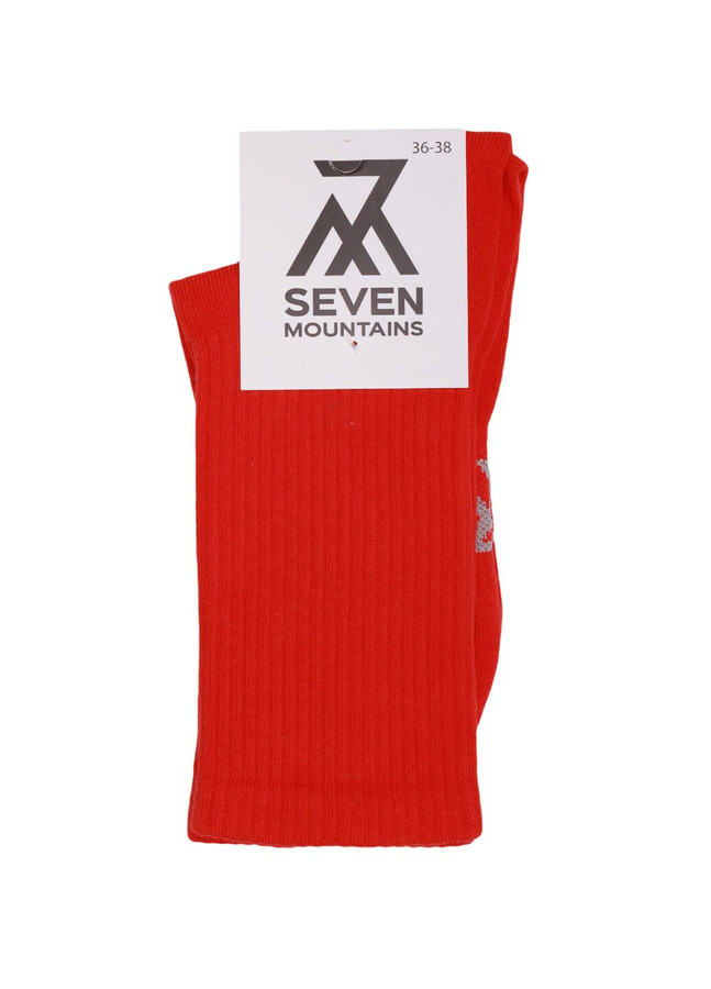 Ribbed socks, Red, 36-38