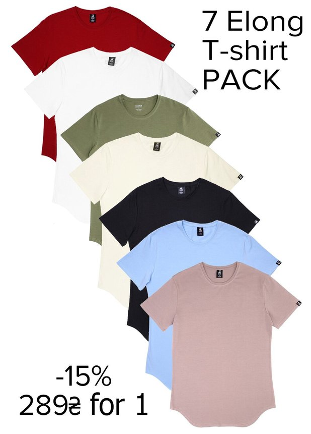 Elongated T-shirt Pack 7