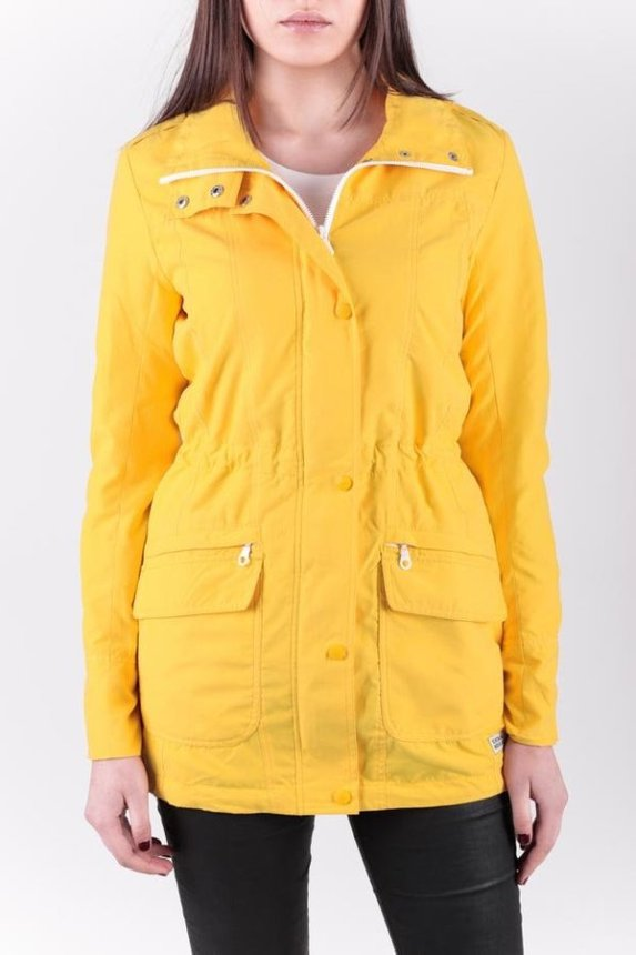 Slim Fit Parka Woman / yellow, Yellow, S