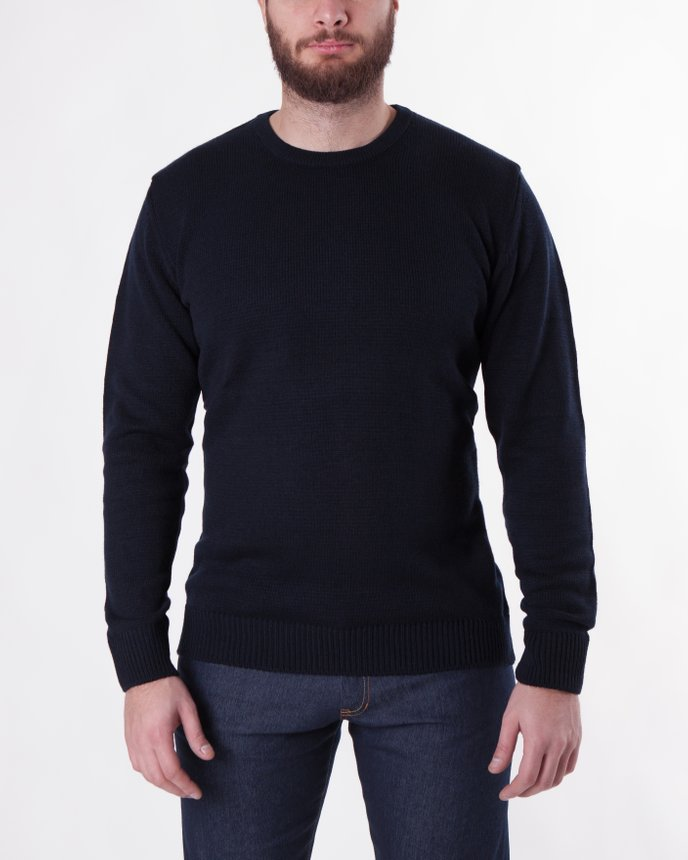 Crew Neck Knit / Navy