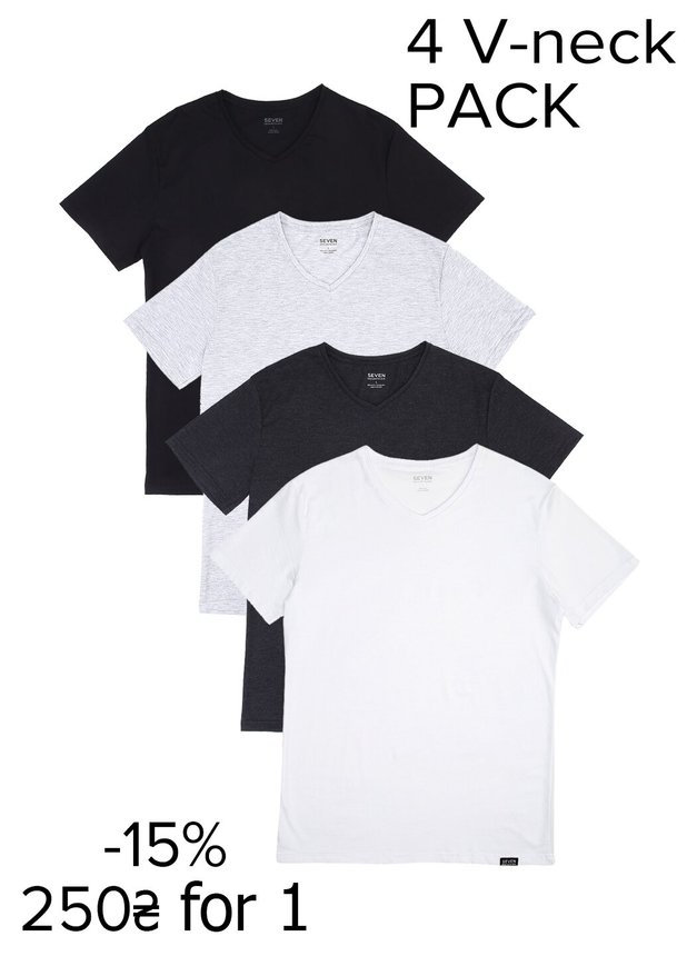 Pack V-neck T-Shirt (4шт-15%)