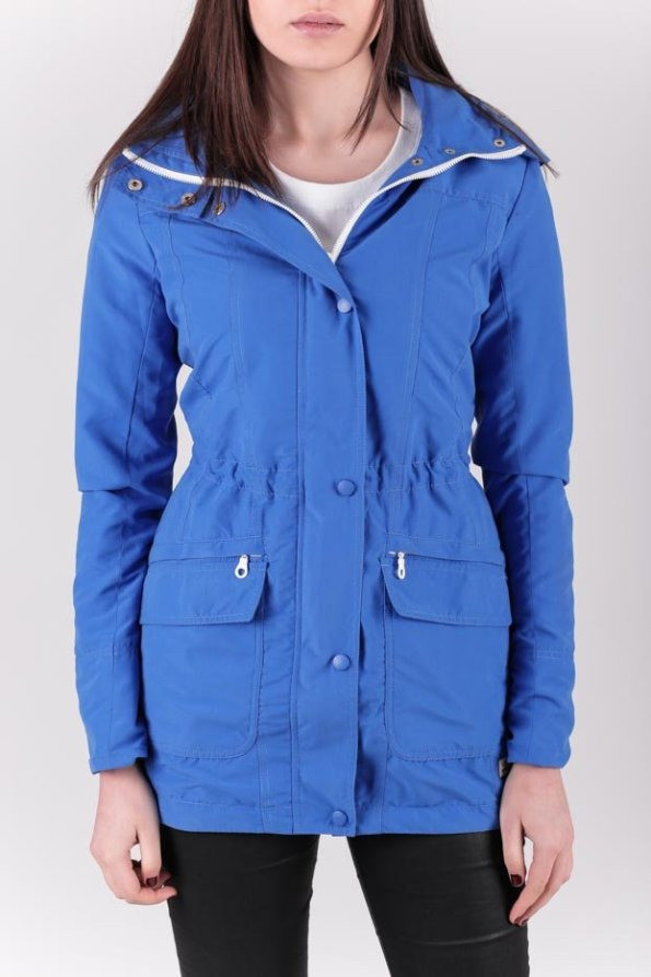 Slim Fit Parka Woman / Sky blue