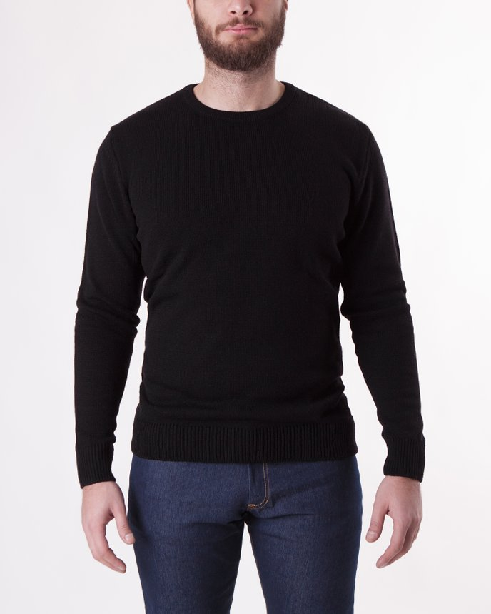 Crew Neck Knit / Black