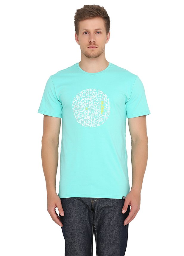 Pattern Circle White T-Shirt / Mint